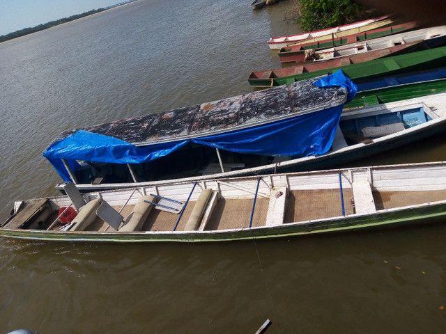 Vendo canoa de alumínio com 10 m - Foto 2