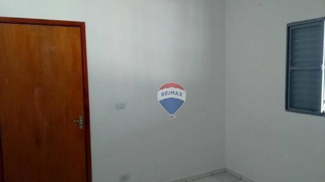Casa 02 dormitórios e/ou salão comercial, locação, R$ 900,00 cada, Cosmópolis, SP - Foto 9