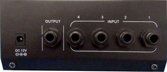 Mesa De Som 4 Canais Mix400 Mini Mixer Bateria,gravação,estúdios,home-audio,som automotivo - Foto 4