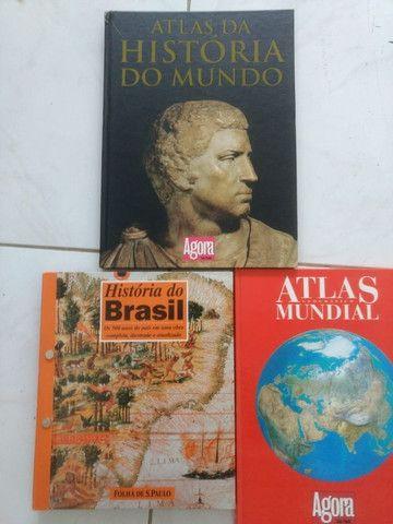 Atlas Historia do Mundo, Atlas Geografico Mundial e Historia do Brasil