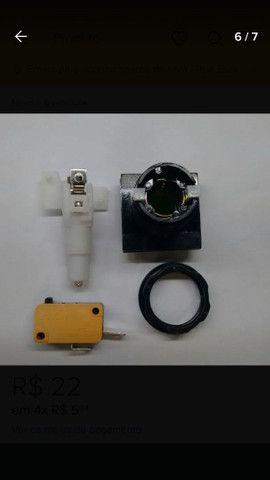 Fliperama botão quadrado  com micro e led - Foto 3