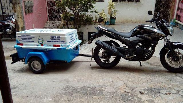 Carretinha para moto modelo Minimum SX Motoprático - Foto 8
