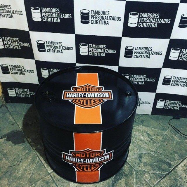 Tambor Personalizado Mesa de Centro Harley - Foto 4