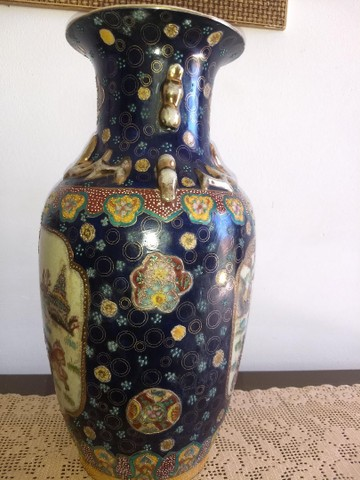 vaso de porcelana chinesa antigo inicio do século XIX - Foto 4