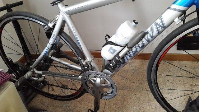 Bike Speed Sundown Competição - Shimano Tiagra - Garfo Fibra de Carbono - Super Nova - Foto 5