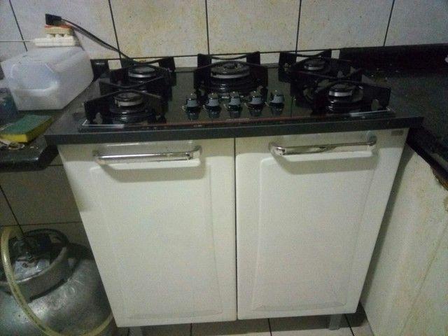 Fogão cooktop com armário de aço Itatiaia. - Foto 2