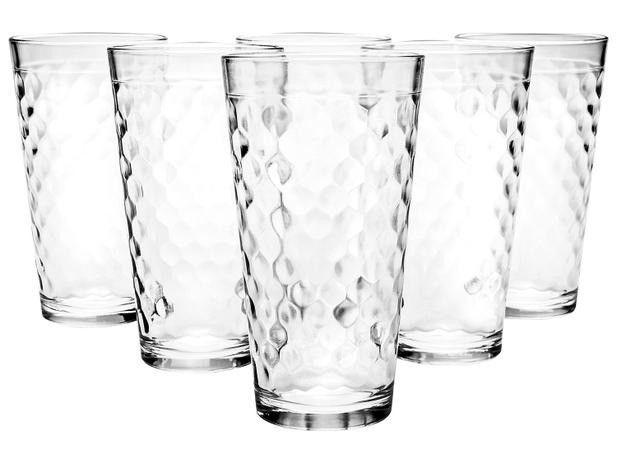 promoção jogo de copos de vidro 350 ml nadir sm marrocos 6 peças