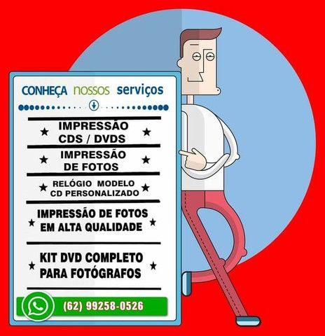 Impressão fotos e CDs