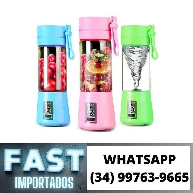 Mini Liquidificador Portátil Bate Gelo - Copo de Vidro * Fazemos Entregas
