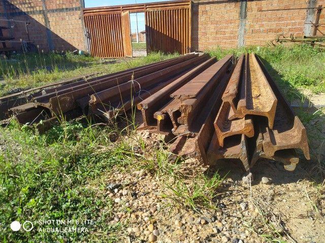 Trilho ferroviário TR68 estaca fundação
