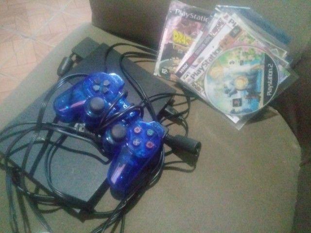 Playstation 2 usado 2 meses. 2 controles e 10 jogos - Foto 3