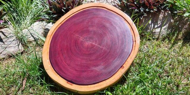 Tábua para churrasco e frios em madeira Roxinho - Foto 4