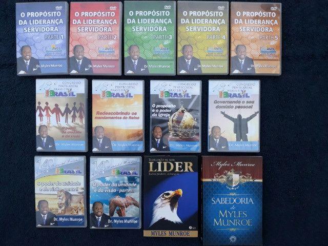 Coleção com 11 DVDs + 2 Livros Pastor Myles Munroe - Foto 4