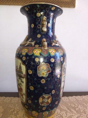vaso de porcelana chinesa antigo inicio do século XIX - Foto 2