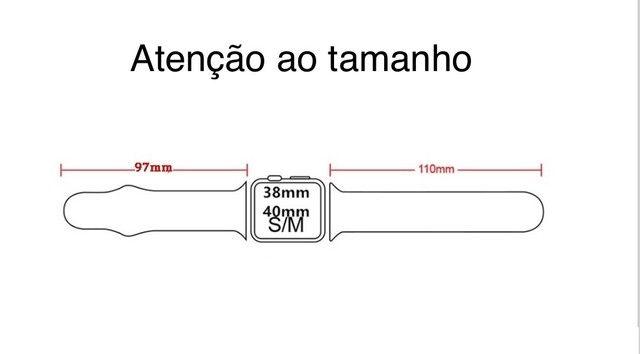 Pulseira Sport Para Apple Watch 38/40mm *Produto novo  - Foto 6
