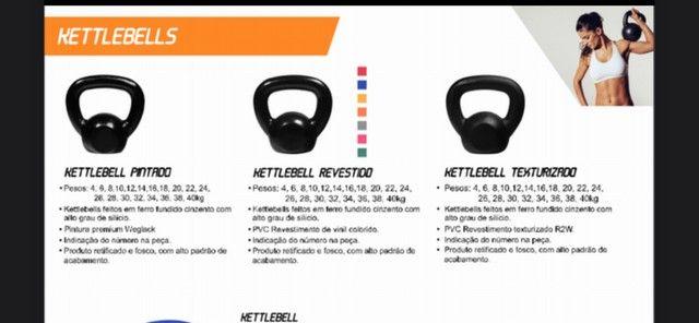 Halteres, Anilhas e kettlebell - Direto da Fábrica  - Foto 4