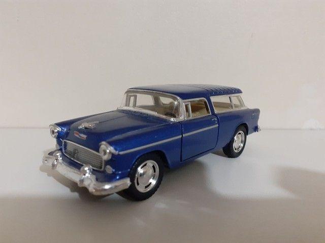 Carrinho De Ferro Miniatura Chevy Nomad 1955 Escala 1:40 - Foto 2