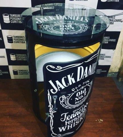 Tambor Personalizado com vidro Jack Daniels e lâmpada de led - Foto 2