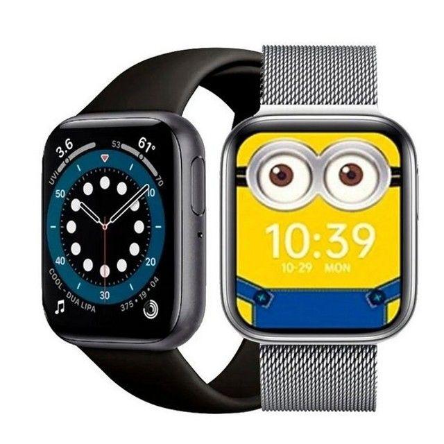 Smartwatch Relógio P80s Com Pulseira De Metal Preto - Foto 2
