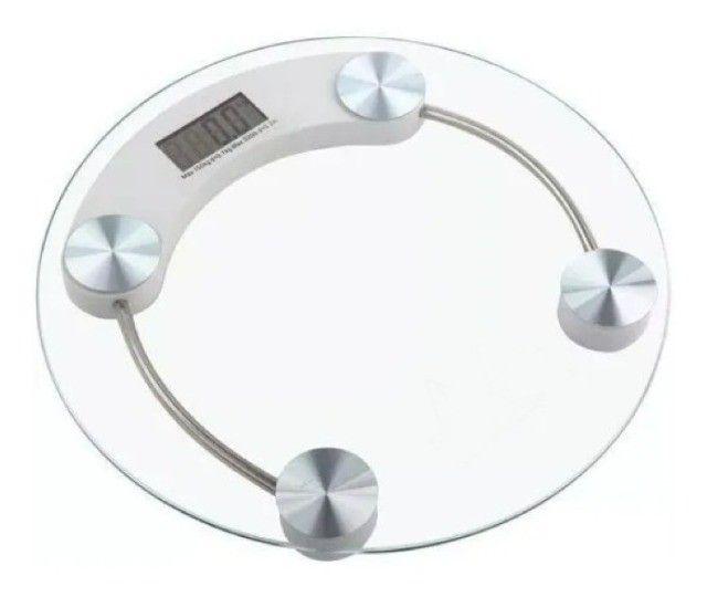 Balança Digital 180kg Eletrônica Lcd Em Vidro Temperado Para Banheiro Academia