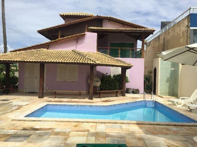 Casa 6/4 Frente Mar, piscina, churrasqeuira em alameda fechada