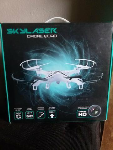 Drone quad skylaser Branco 4 hélices