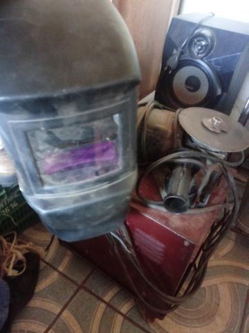 Máquina lixadeira e mascara