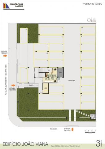 Apartamento à venda com 3 dormitórios em Sinimbu, Belo horizonte cod:2349 - Foto 3