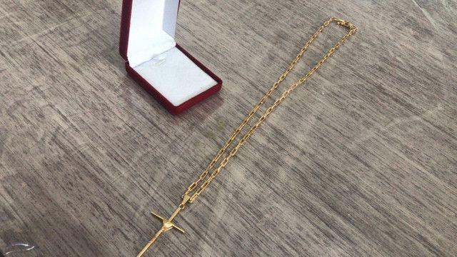 Cordão e pingente folheado a ouro 18k