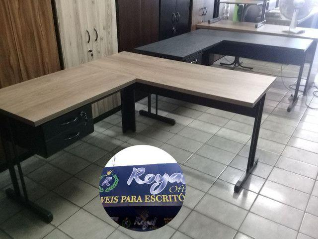 Mesa em L para escritório nova - Foto 2
