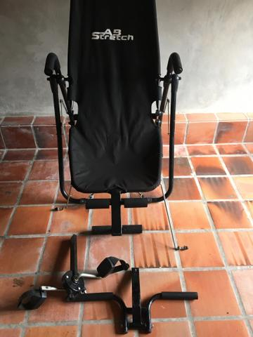 Cadeira AB Stretch Polishop: flexão, abdominal e bicicleta