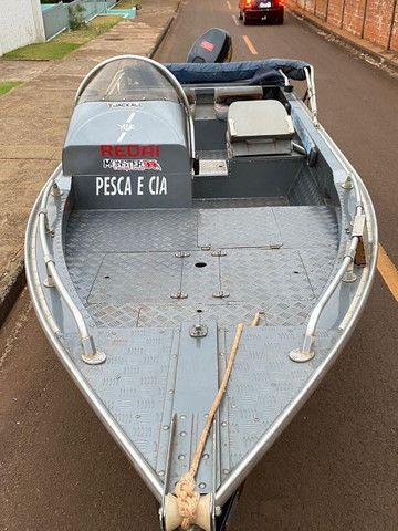 Lancha Albatroz alumi barcos motor 40hp 2t sailor - Foto 7