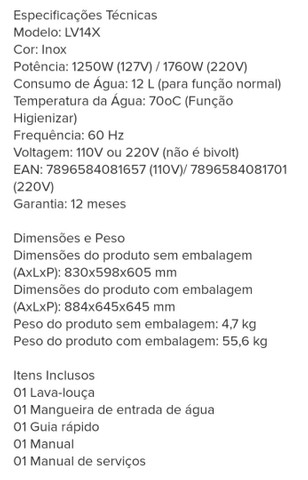 Lava-louças Electrolux Inox 14 Serviços 220 V - Foto 4