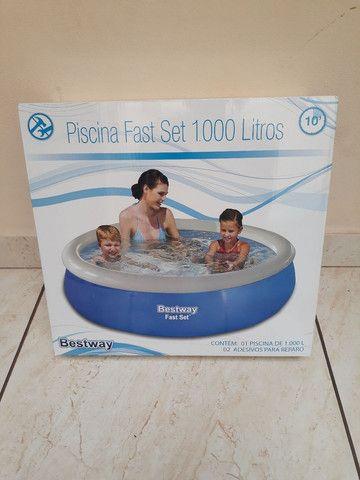 Piscina inflável redonda 1.000 litros  - Foto 3