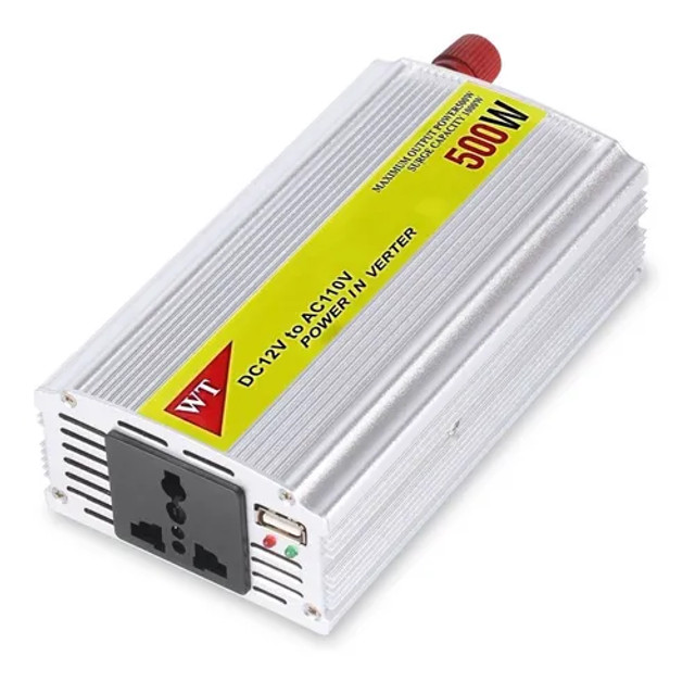 Inversor de energia 500w conversor entrada 12v x220