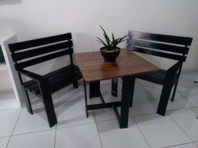 Conjunto de cadeiras +mesa - Foto 2
