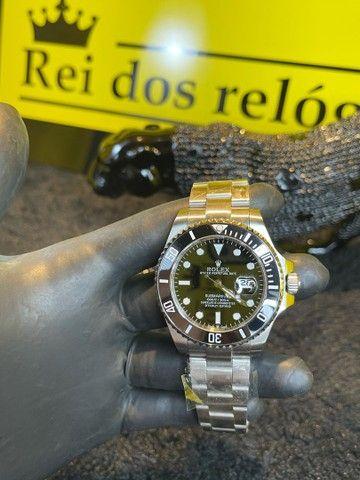 Rolex SUBMARINER bezel preto / prata novo