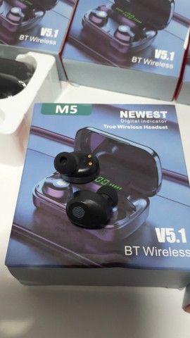 Fone de Ouvido Bluetooth TWS M5 bt 5.1 - Foto 3