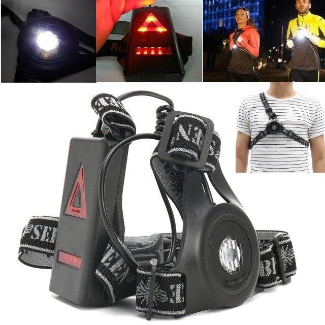 Lanterna de peito para a prática de corrida noturna (night run) Light running