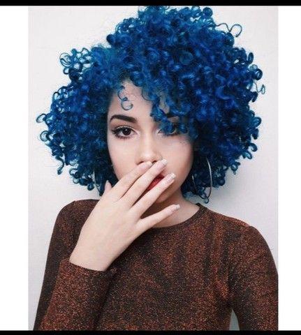 Tinta Cabelo Azul Royal Coloração Hidratylife Mairibel 60g - Foto 6