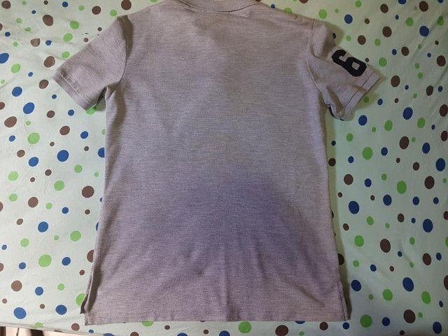 Camisa Polo Cinza P - Foto 3