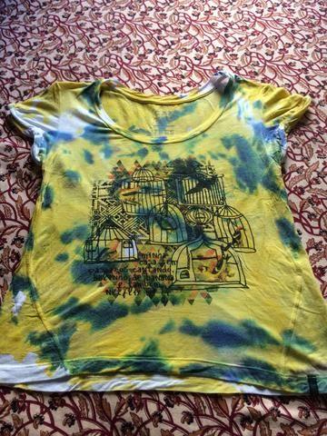 T-shirt aquarelada cantão