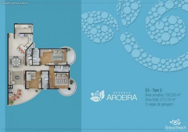 Apartamento Semi Mobiliado no Brava Beach, 4 suites 3 vagas, praia brava Itajai! - Foto 2
