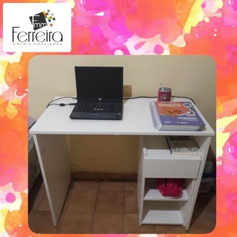 27. Promoção Mesa Escrivaninha 90cm - Entrega Grátis toda Manaus :) - Foto 2