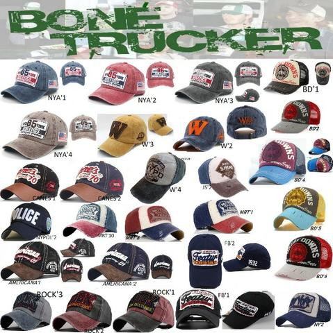 Boné Trucker Caminhoneiro Baseball Telinha Aba Curva 53 Modelos Importados  Pronta Entrega 4517ccf3991