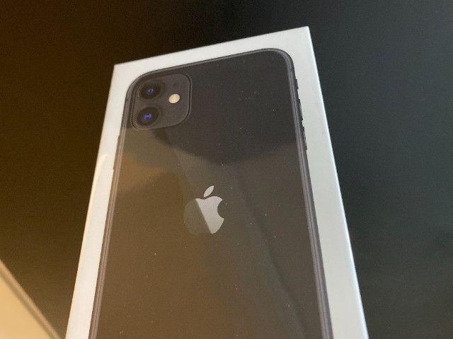 IPhone 11 de 64gb, NF + Garantia 1 ano, A2221, Anatel, Lacrado, Zero, Novo, Preto - Foto 4