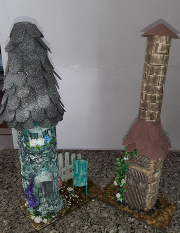 GARRAFAS E POTES  DECORADOS