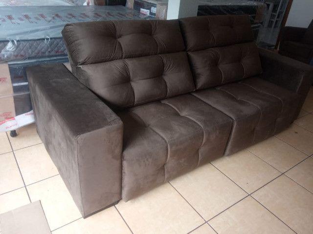 Sofá retrátil e reclinável 2,45 - Foto 4
