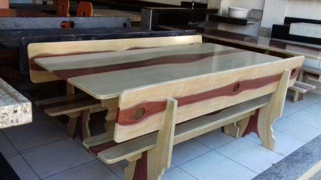 Conjunto de mesa de ardósia - Foto 4