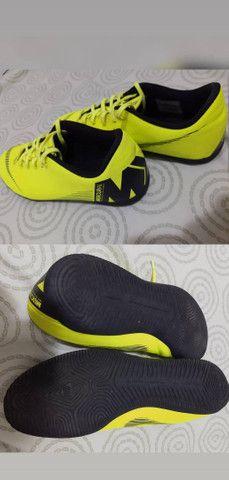 Chuteira futsal Nike Mercurial Vapor Usada - Foto 2